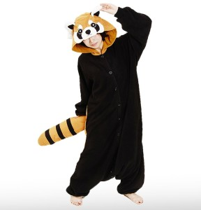 Image of: Animal Pajamas Red Panda Onesies Onesie Zoo Panda Onesie