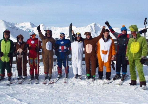 Skiing Onesies