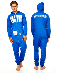 tardis onesie pyjamas for men