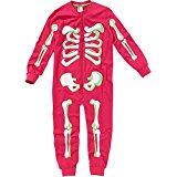 pink skeleton onesie